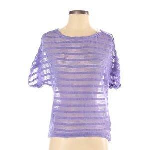 Jessica Simpson Sheer Striped Blouse
